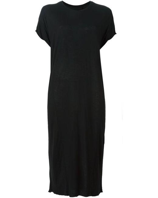 THOM KROM | Женское Чёрное Платье С Необработанными Краями