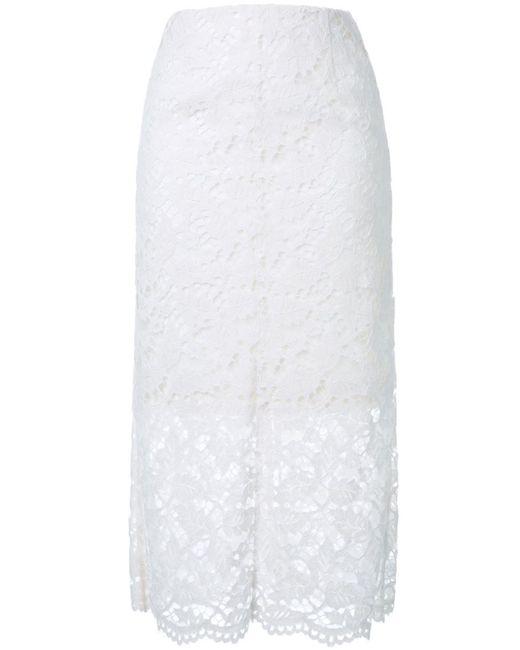 LE CIEL BLEU   Женская Белая Кружевная Юбка