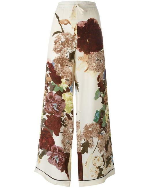 Valentino   Женские Многоцветные Брюки-Палаццо Kimono 1997