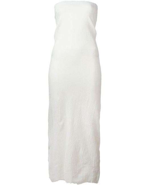 Marc Le Bihan   Женское Белое Платье Без Бретелек