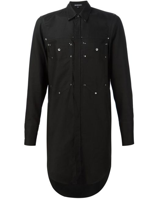 Ann Demeulemeester | Мужское Чёрный Long Patch Pocket Shirt