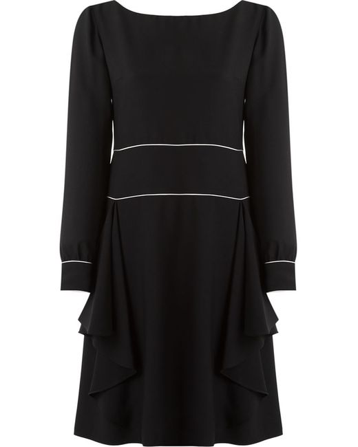 Reinaldo Lourenço | Женское Чёрный Pleated Round Neck Dress
