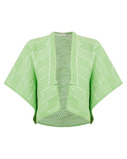 Gig   Женское Зелёный Knit Jacquard Coat