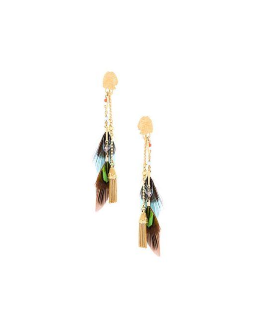 GAS BIJOUX | Женское Серебристый Sioux Feather Earrings