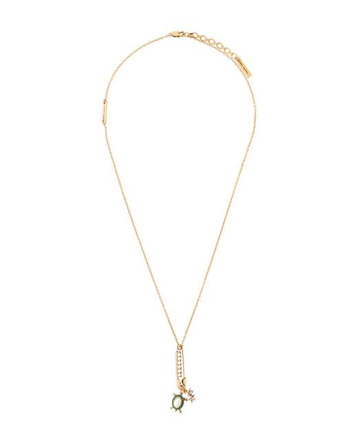 Marc Jacobs | Женское Серебристый Safety Pin Turtle Charm Necklace