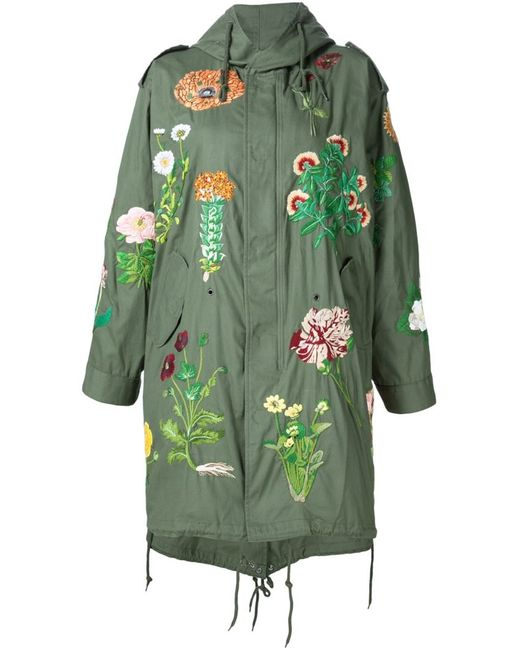 Creatures of the Wind | Женское Зелёный Jarde Hand Embroidered Parka
