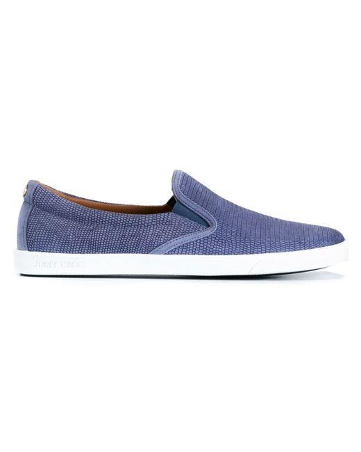 Jimmy Choo   Женское Синий Demi Slip-On Sneakers
