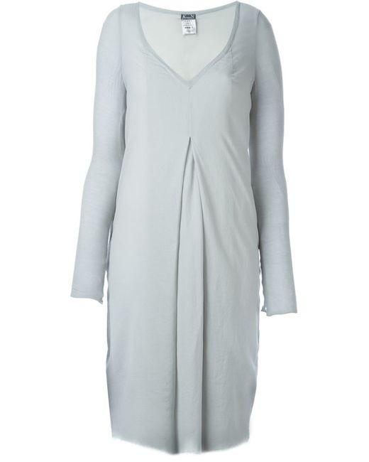 Kristensen Du Nord | Женское Серый Deep V-Neck Box Pleat Dress