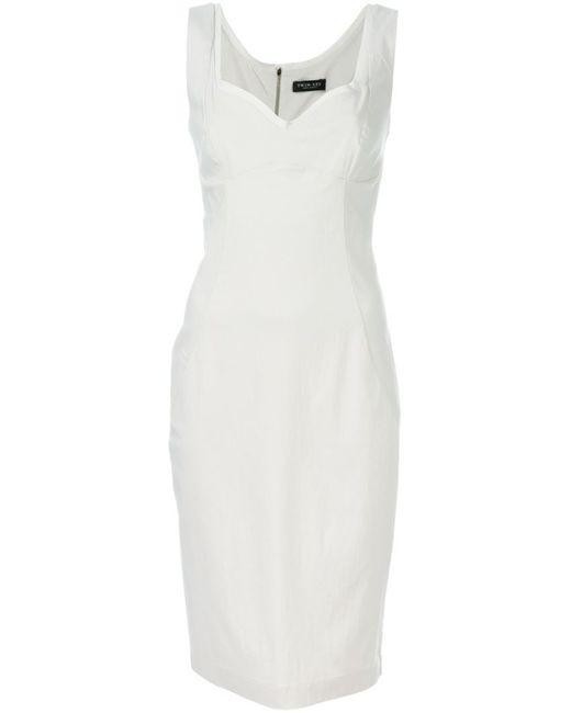 Twin-set | Женское Серый Sweetheart Neck Fitted Dress