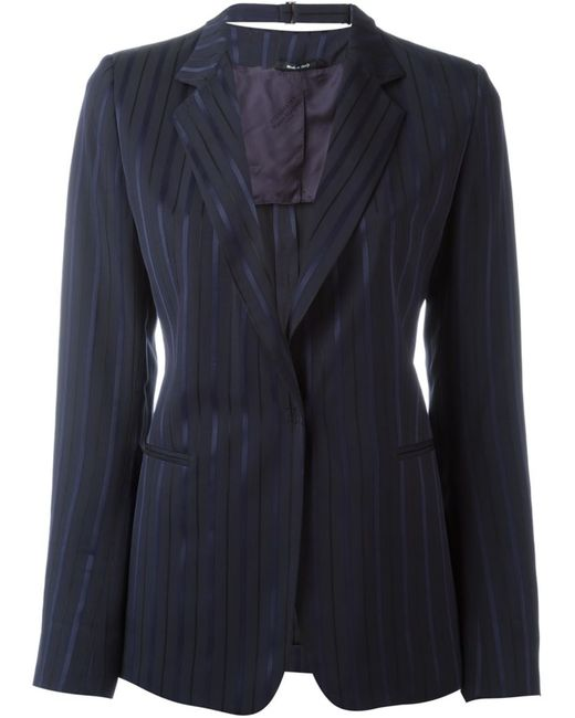 Maison Margiela | Женское Чёрный Pinstripe Blazer
