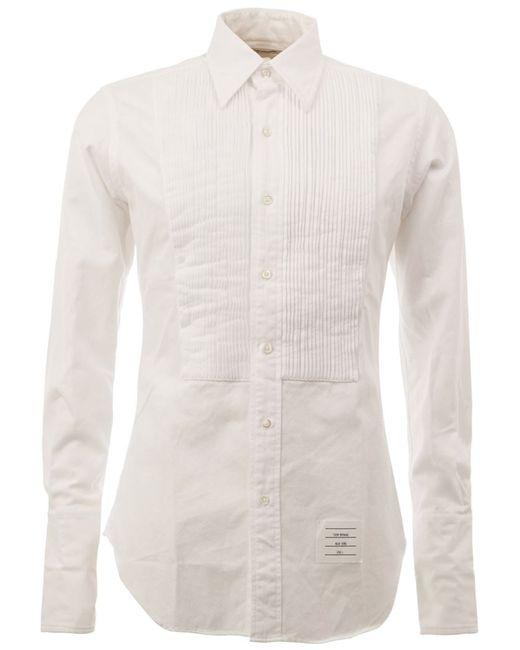 Thom Browne | Мужская Белая Классическая Рубашка