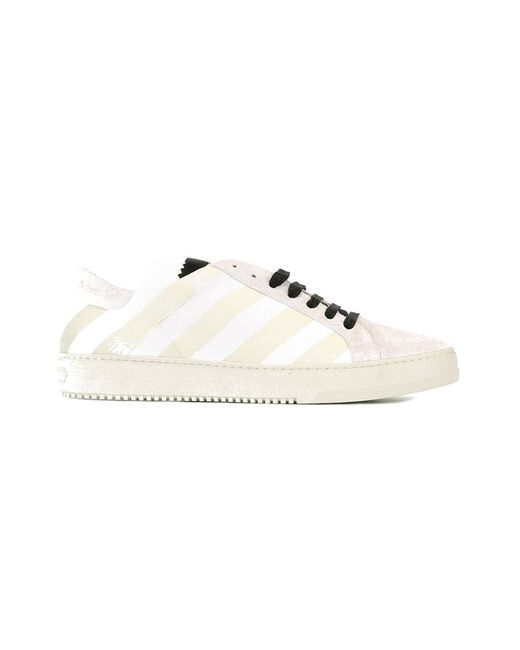 OFF-WHITE   Мужское Белый Brushed Diagonals Sneakers