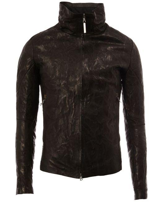 Isaac Sellam Experience | Мужская Чёрная Куртка С Высоким Воротом