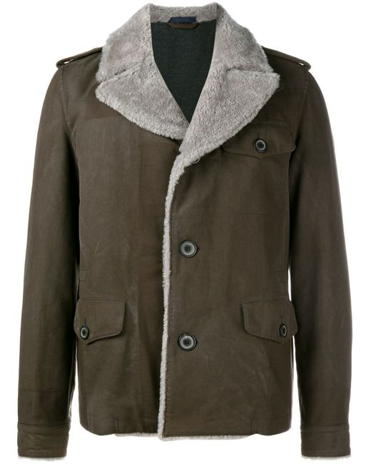 Lanvin | Мужская Коричневая Летная Куртка