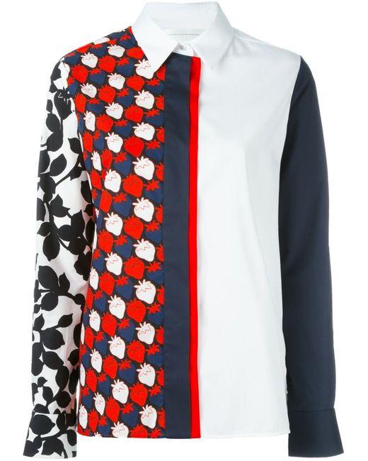Victoria, Victoria Beckham | Женская Белая Рубашка Strawberry Patch
