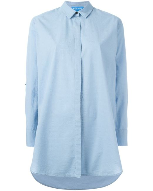 Mih Jeans | Женская Синяя Свободная Рубашка