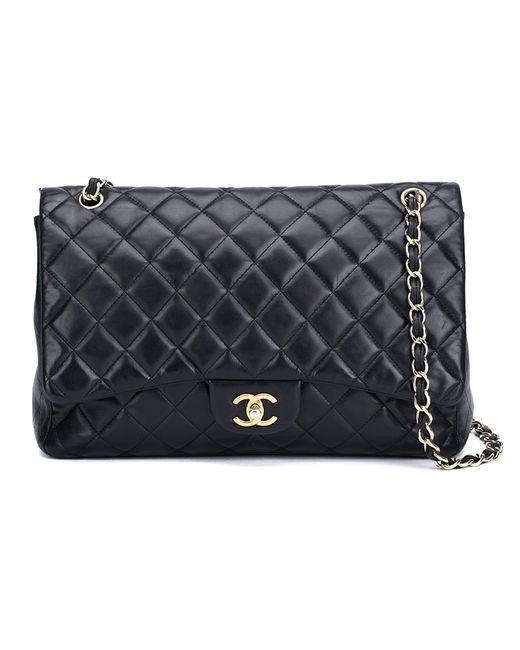 Chanel Vintage | Женская Чёрная Сумка На Плечо Maxi Flap