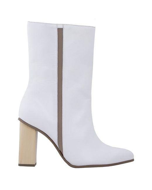 Studio Chofakian | Женское Белый Chunky Heel Boots