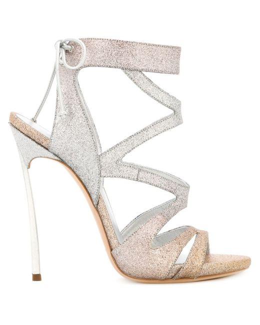 Casadei | Женское Серебристый Glitter Evening Sandals