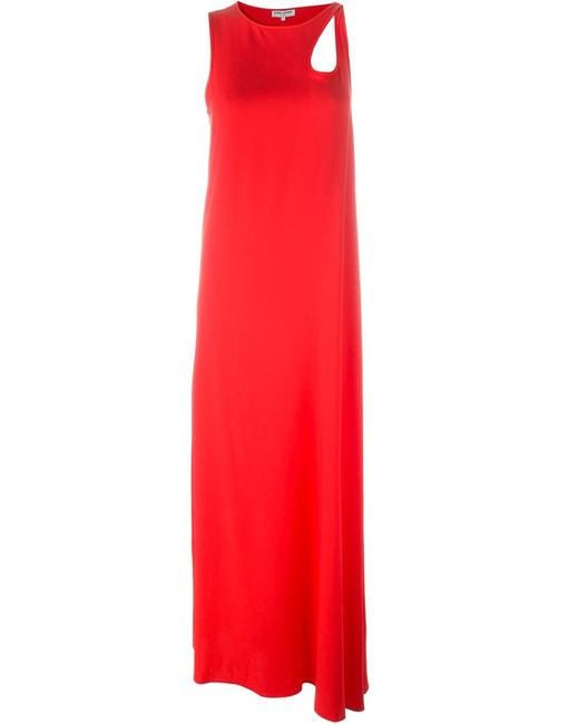Opening Ceremony | Женское Красный Shoulder Cut Out Detail Dress