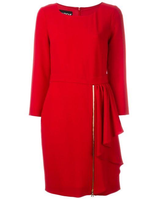 BOUTIQUE MOSCHINO | Женское Красный Robe Draped Dress