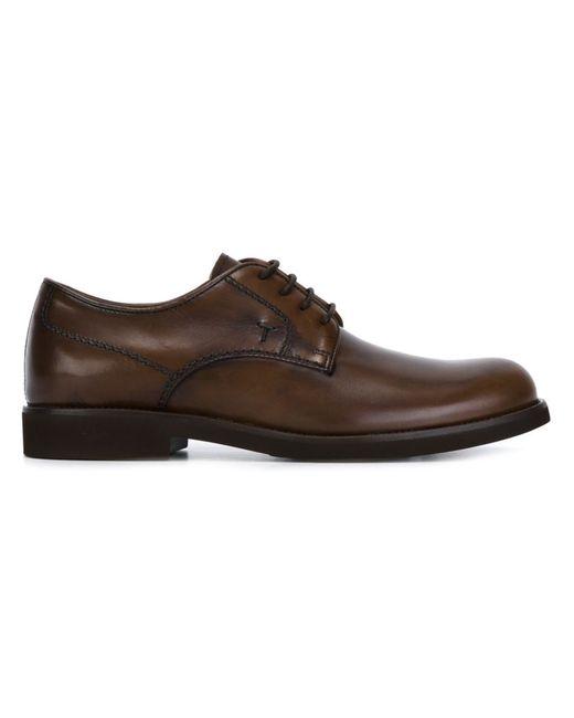 Tod'S | Мужские Коричневые Классические Ботинки Дерби