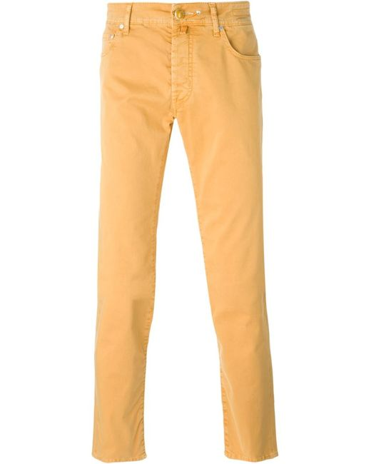 Jacob Cohёn | Мужское Желтый Jacob Cohen Slim-Fit Trousers