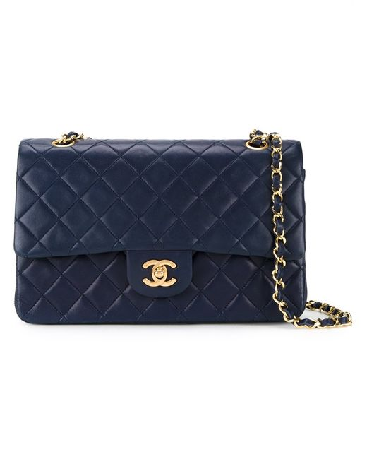 Chanel Vintage | Женская Синяя Стеганая Сумка На Плечо