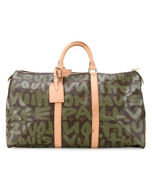 Louis Vuitton | Женская Зелёная Дорожная Сумка Keepall 50