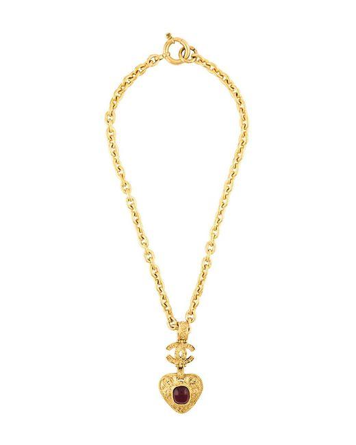 Chanel Vintage | Женское Серебристое Ожерелье С Подвеской-Сердцем