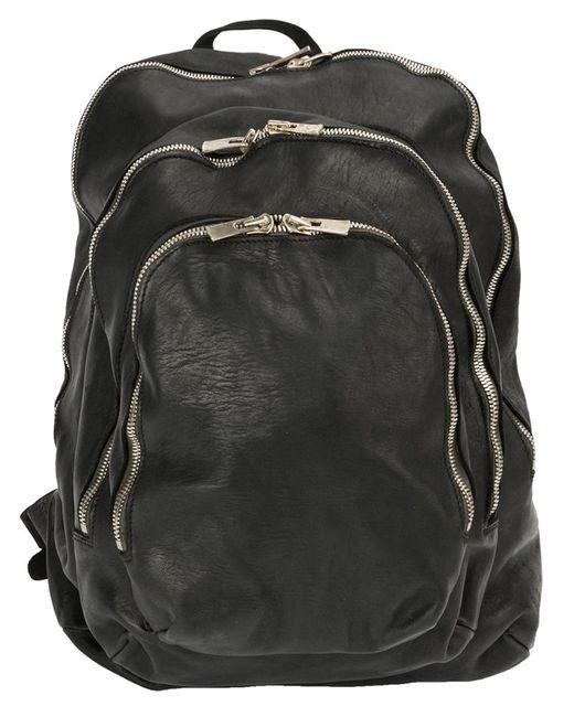 GUIDI | Женский Чёрный Рюкзак С Несколькими Карманами