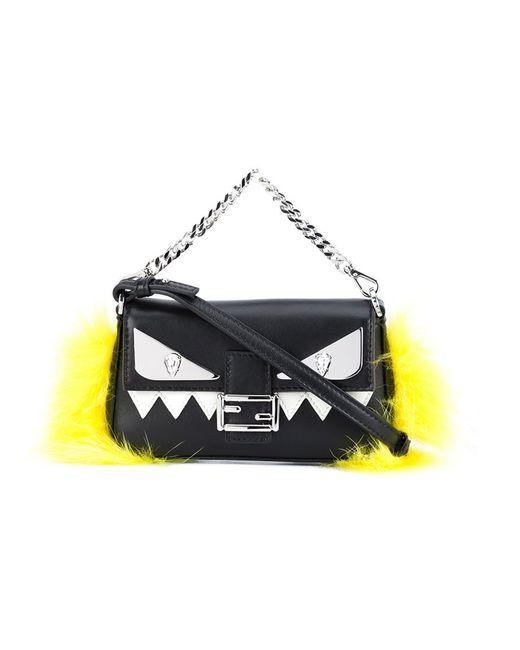 Fendi | Женское Чёрный Micro Baguette Crossbody Bag