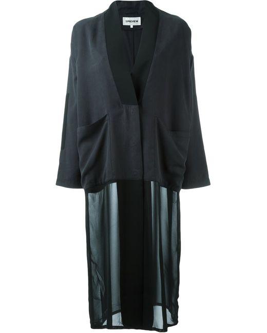 5Preview | Женское Чёрный 5 Preview Buttoned Kimono Coat