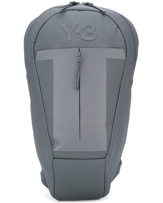 Y-3 | Мужской Серый Рюкзак С Тисненым Логотипом