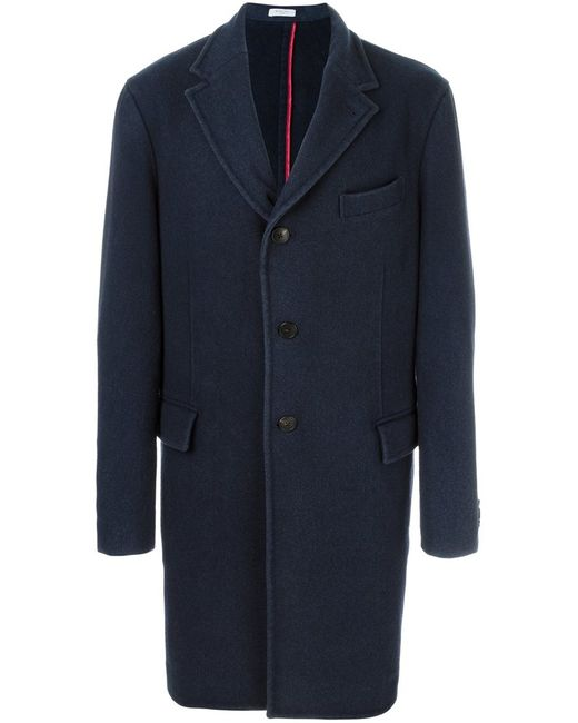 Boglioli | Мужское Синее Однобортное Пальто
