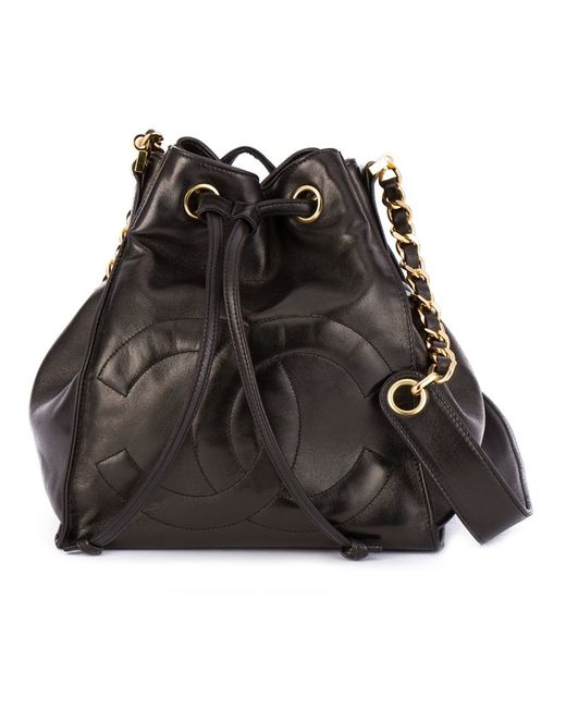 Chanel Vintage | Женское Чёрный Bucket Shoulder Bag