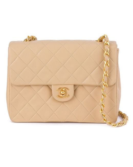 Chanel Vintage | Женское Nude & Neutrals Quilted Chain Shoulder Bag