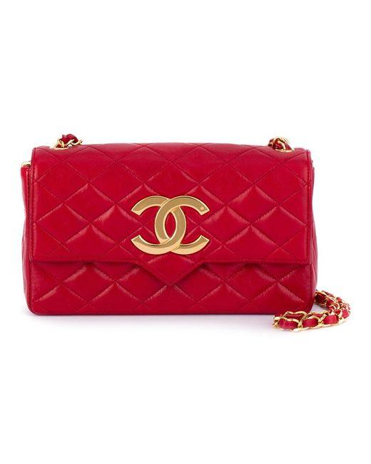 Chanel Vintage | Женское Красный Logo Plaque Shoulder Bag