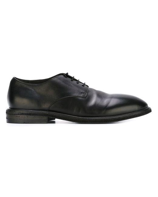 Marsell | Мужские Чёрные Туфли На Шнуровке