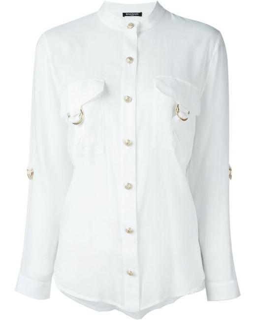 Balmain | Женское Белый Adjustable Sleeve Shirt