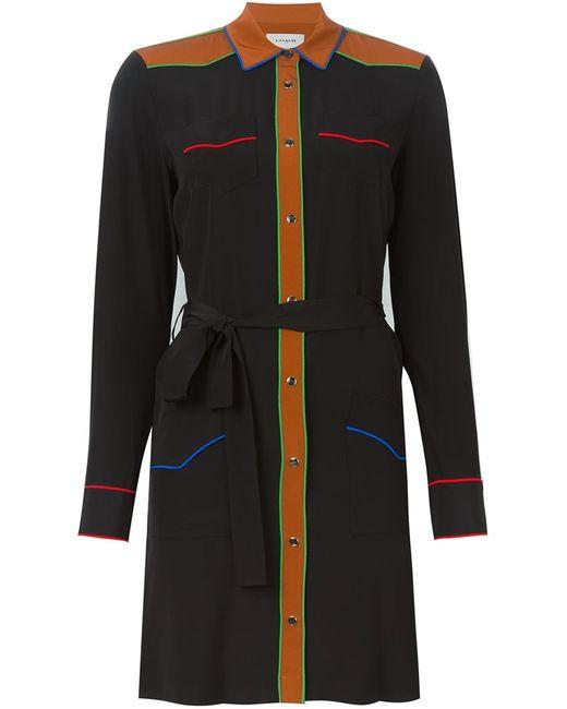 COACH | Женское Чёрное Платье-Рубашка С Контрастной Окантовкой