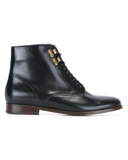 A.P.C. | Женские Чёрные Ботинки На Шнуровке