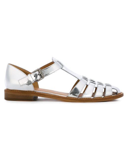 Church'S | Женское Серебристый Flat Gladiator Sandals