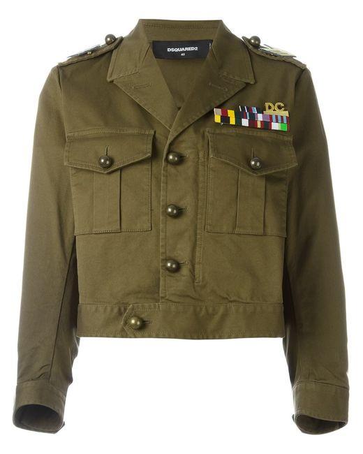 Dsquared2 | Женская Зелёная Куртка Golden Arrow