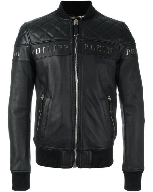 Philipp Plein | Мужская Чёрная Куртка-Бомбер Crimson