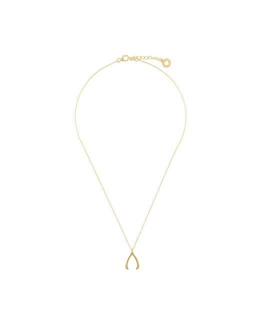 Nialaya Jewelry   Женское Желтый Skyfall Wishbone Necklace