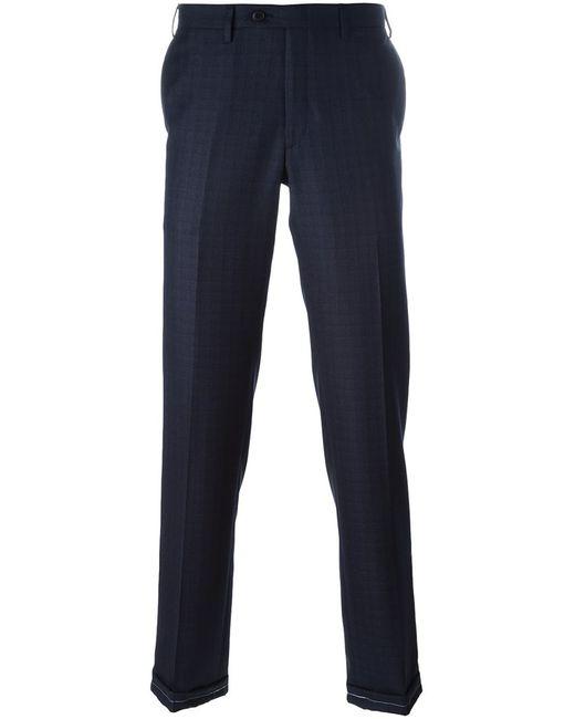Brioni | Мужское Синий Plaid Tailored Trousers