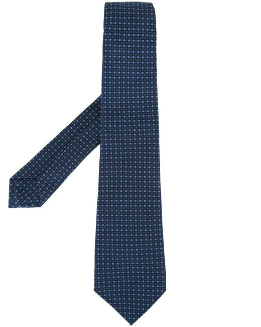 Kiton | Мужское Синий Dots Pattern Tie