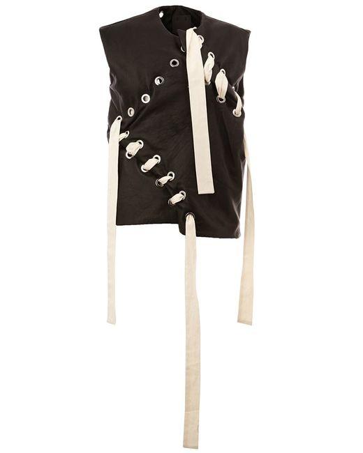 CRAIG GREEN | Мужское Чёрный Lace-Up Vest