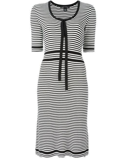 Marc Jacobs | Женское Чёрное Полосатое Платье Плотной Вязки